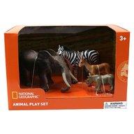 National Geographic - Set 4 figurine Mamut, Rinocer, Zebra, Antilopa