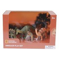 National Geographic - Set 4 figurine Pachycephalosaurus, Ankylosaurus, Brachiosaurus si puiul