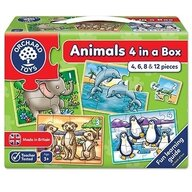 Orchard Toys - Set 4 puzzle Animale, 4/6/8/12 piese