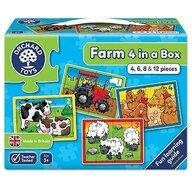 Orchard Toys - Set 4 puzzle La ferma, 4/6/8/12 piese