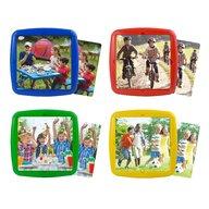 Miniland - Set 4 puzzle Ma distrez cu prietenii mei