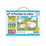 Galt - Set 4 puzzle-uri Animale de la ferma (4 6 8 12 piese)