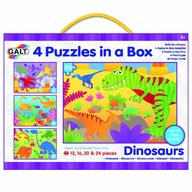 Galt - Set 4 puzzle-uri Dinozauri (12 16 20 24 piese)