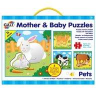 Galt - Set 4 puzzle-uri Mama si puiul animale domestice