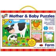 Galt - Set 4 puzzle-uri Mama si puiul-Ferma