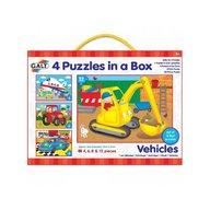 Galt - Set 4 puzzle-uri Vehicule (4 6 8 12 piese)