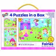 Galt - Set 4 puzzle-uri Zane (12 16 20 24 piese)
