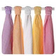 XKKO - Set 5 museline din bumbac organic 70x70cm, Old Times Girls Pastels