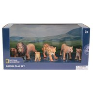 National Geographic - Set 6 figurine Lei si Leoparzi