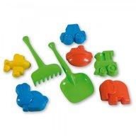 Androni Giocattoli - Set 6 forme nisip cu unelte