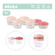 Beaba - Set 6 recipiente hrana 2x60 ml , 4x120 ml, Roz