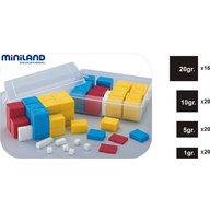 Miniland - Set 76 greutati din plastic