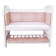 Sweet Stars - Set aparatori si cearsaf pentru pat cosleeper Dreamy Mini Bej