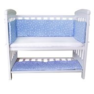 Sweet Stars - Set aparatori si cearsaf pentru pat cosleeper Dreamy Mini Blue