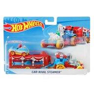 Mattel - Set vehicule Camion , Hot wheels , Cu masina sport Carnival Steamer