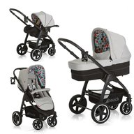 Hauck - Carucior 3 in 1 Montreal Plus Easy Travel, Gumball Grey