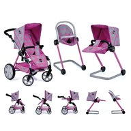 Hauck - Set carucior PapusiIcoo Grow With Me Dot Pink Grey