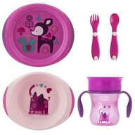 Chicco - Set complet hranire , Girl, 12luni+