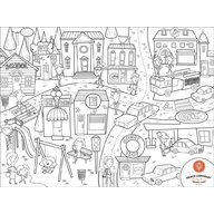 Prince Lionheart - Set complet pentru desen cu plansa refolosibila din silicon City