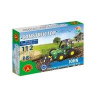 Alexander Toys - Set de constructie Vehicul John Plug de zapada , Constructor , 112 piese metalice