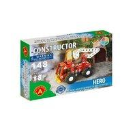 Alexander Toys - Set de constructie Vehicul Hero Masina de pompieri , Constructor , 148 piese metalice
