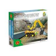 Alexander Toys - Set de constructie Vehicul Hulk Excavatorul , Constructor , 189 piese metalice