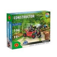 Alexander Toys - Set de constructie Vehicul Forest Utilaj incarcare busteni , Constructor , 194 piese metalice