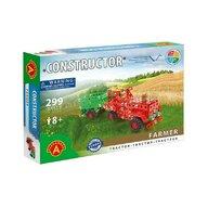 Alexander Constructor - Set constructie 299 piese metalice Constructor Farmer Tractor cu remorca, Alexander