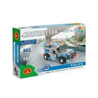 Alexander Toys - Set de constructie Vehicul Masina de politie , Constructor , 302 piese metalice