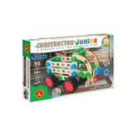 Alexander Toys - Set de constructie Vehicul Camion , Constructor Junior , 3 in 1, 95 piese din Lemn