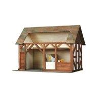 Walachia - Set constructie arhitectura Grajdul animalelor, 154 piese din lemn,