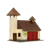 Walachia - Set constructie arhitectura Statie de pompieri, 128 piese din lemn,