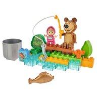 Big - Set constructie  Masha and the Bear Go Fishing 29 piese