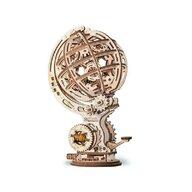EWA - Puzzle 3D Kinetic Globe , Puzzle Copii , Cu mecanism din Lemn, piese 205