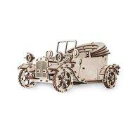 EWA - Puzzle 3D Retrocar , Puzzle Copii , Cu mecanism din Lemn, piese 315