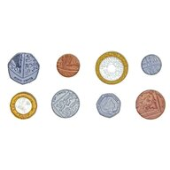 Learning Resources - Accesoriu Set de monede de jucarie 700 buc, Lire