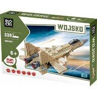 Blocki - Set cuburi constructie MyArmy Avion militar, 339 piese,