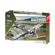 Blocki - Set cuburi constructie MyArmy Avion militar de atac, 299 piese,