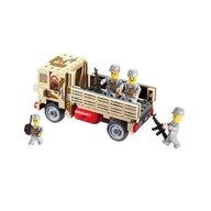 Blocki - Set cuburi constructie MyArmy Camion militar, 183 piese,