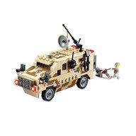 Blocki - Set cuburi constructie MyArmy Camion militar de recunoastere, 219 piese,