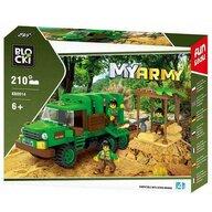 Blocki - Set cuburi constructie MyArmy Camion militar in jungla, 210 piese,