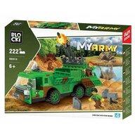 Blocki - Set cuburi constructie MyArmy Tir militar cu lansator rachete, 222 piese,