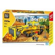 Blocki - Set cuburi constructie MyCity Buldozer, 250 piese,