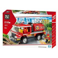 Blocki - Set cuburi constructie MyCity Cisterna pompieri, 213 piese,