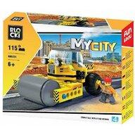 Blocki - Set cuburi constructie MyCity Masina cu cilindru asfaltare, 115 piese,