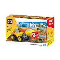 Blocki - Set cuburi constructie MyCity Vehicul Constructii 3in1, 52 piese,