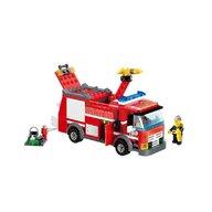 Blocki - Set cuburi constructie MyFireBrigade Masina autoutilitara de pompieri, 206 piese,