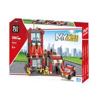 Blocki - Set cuburi constructie MyFireBrigade Statie de pompieri, 300 piese,
