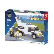 Blocki - Set cuburi constructie MyPolice Duba de politie, 85 piese,