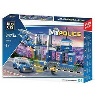 Blocki - Set cuburi constructie MyPolice Post de politie, 347 piese,